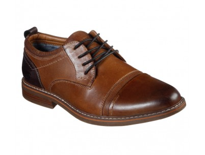 CAP TOE LEATHER LACE UP